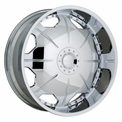Strada MIRROR Chrome 22X10 6-127 Wheel