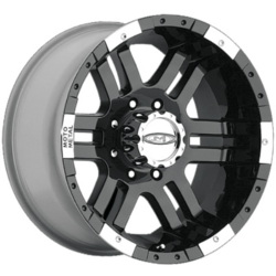 Moto Metal MO951 Gloss Black Machined 17X9 8-165.1 Wheel