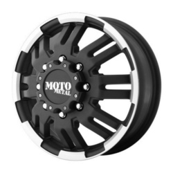 Moto Metal MO963 DUALLY Matte Black Machined