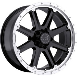 Black Rhino MOAB Gloss Black W/Machine Lip 18X9 8-180 Wheel
