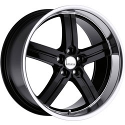 Lumarai MORRO Gloss Black W/Mirror Lip 19X10 5-120 Wheel