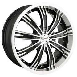 MPW MP108 Black/Machined 20X9 5-120 Wheel