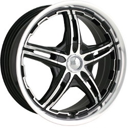 MPW MP109 Black/Machined 17X7 5-114.3 Wheel