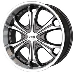 MPW MP209 Black/Machined 22X10 5-115 Wheel
