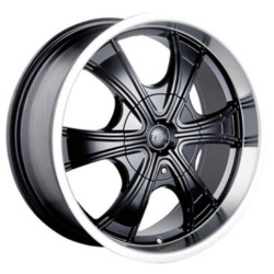 MPW MP210 Black/Machined 18X8 6-114.3 Wheel