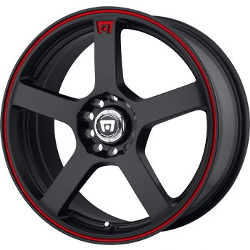 Motegi Racing MR116 Matte Black  W Red Stripe