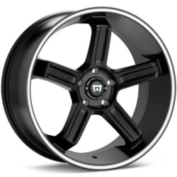 Motegi Racing MR122 Satin Black With Machined Flange 18X9 5-112 Wheel