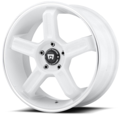 Motegi Racing MR122 White W/ Machined Lip Groove