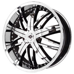 Black Ice NEMESIS Black w/Chrome 22X9 5-108 Wheel