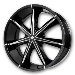 Black Ice NEXUS Black w/Chrome 22X10 6-135 Wheel