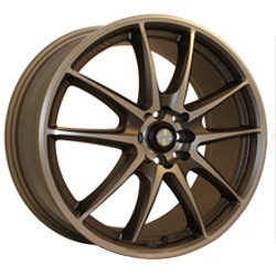 Ninja NJ01 Cfr Bronze 17X7 5-100 Wheel