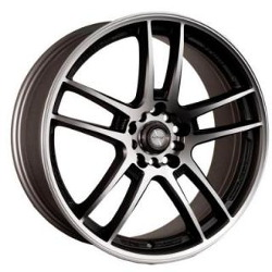 Ninja NJ02 Black Machined Face 18X8 5-100 Wheel
