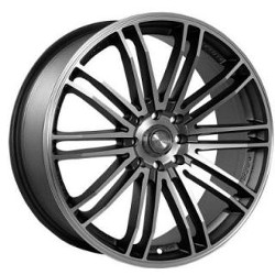 Ninja NJ08 Dark Gunmetal 17X7 4-100 Wheel