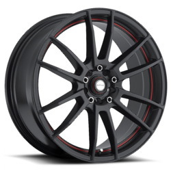 Ninja NJ09 Matte Black W/ Red Stripe 18X8 5-100 Wheel