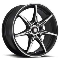 Ninja NJ11 Matte Black Machined Face 17X7 5-114.3 Wheel