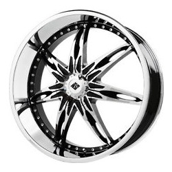 Black Ice NOCTURNO Black w/Chrome 22X10 5-115 Wheel