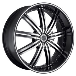 Strada NOVE Black W/ Machined Face 24X10 6-135 Wheel