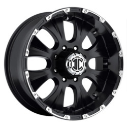 Extreme NX-2 Satin Black / Machined Edge 20X9 5-127 Wheel