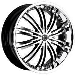 2 Crave No.1 Glossy Black/Machined Face/Chrome Lip 18X8 5-114.3 Wheel