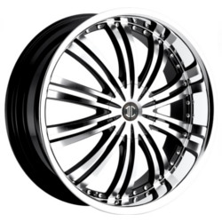 2 Crave No.1 Glossy Black/Machined Face 18X8 4-108 Wheel
