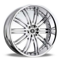 2 Crave No.11 Chrome 24X10 5-120 Wheel