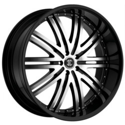 2 Crave No.11 Glossy Black/Machined Face 22X10 5-114.3 Wheel