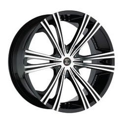 2 Crave No.12 Glossy Black/Machined Face 22X10 5-135 Wheel