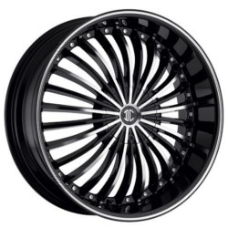 Black Diamond No.13 Glossy Black/Machined Face & Stripe 18X8 5-112 Wheel