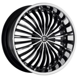 Black Diamond No.13 Glossy Black/Machined Face 18X8 5-108 Wheel