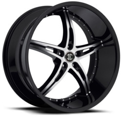 Black Diamond No.14 Glossy Black/Machined Face 20X9 5-110 Wheel