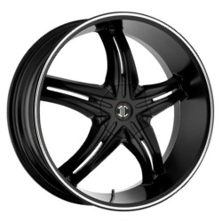 Fiero No.15 Satin Black / Machined Stripe 22X10 5-139.7 Wheel