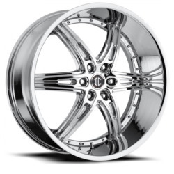 2 Crave No.16 Chrome 22X10 6-139.7 Wheel