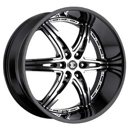 2 Crave No.16 Glossy Black / Machined Face 26X10 5-112 Wheel