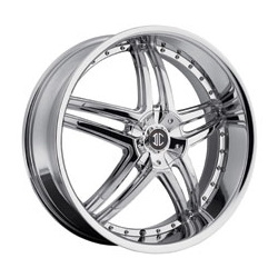 2 Crave No.17 Chrome 22X9 5-112 Wheel