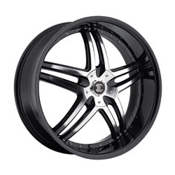 2 Crave No.17 Glossy Black / Machined Face 18X8 4-114.3 Wheel