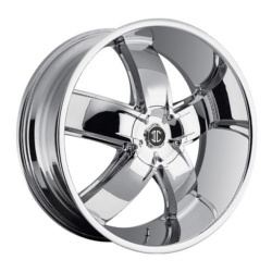 2 Crave No.18 Chrome 24X10 5-120.7 Wheel