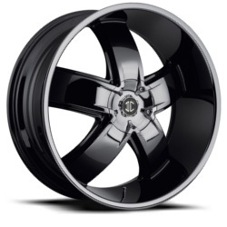 2 Crave No.18 Glossy Black 24X10 6-135 Wheel