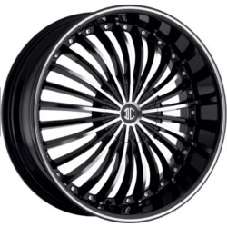 2 Crave No.19 Glossy Black / Machined Face / Stripe 24X10 5-127 Wheel