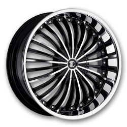 2 Crave No.19 Glossy Black / Machined Face 24X10 5-135 Wheel