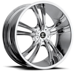 Black Diamond No.2 Chrome 22X10 5-115 Wheel