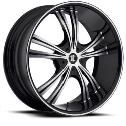 Black Diamond No.2 Glossy Black/Machined Face & Stripe 20X9 5-114.3 Wheel