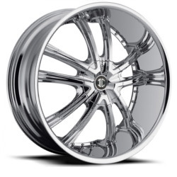 2 Crave No.21 Chrome 22X10 6-135 Wheel