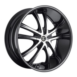 2 Crave No.21 Glossy Black / Machined Face 24X10 6-139.7 Wheel