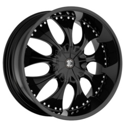Black Diamond No.3 Glossy Black 22X10 5-120 Wheel