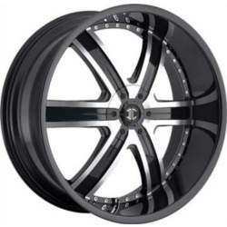 Black Diamond No.4 Glossy Black/Machined Face 24X10 5-127 Wheel