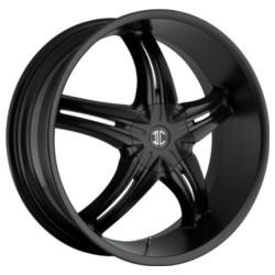 Fiero No.5 Satin Black 18X8 4-108 Wheel