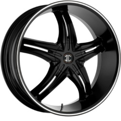 Fiero No.5 Satin Black / Machined Stripe 20X8 5-112 Wheel