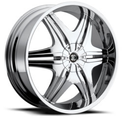2 Crave No.6 Chrome 22X8 5-110 Wheel