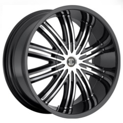 Fiero No.7 Glossy Black/Machined Face 20X10 5-115 Wheel