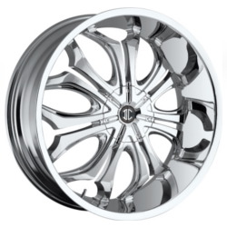 Black Diamond No.8 Chrome 24X9 5-112 Wheel